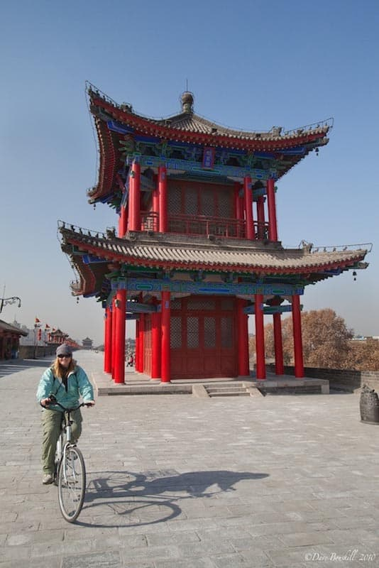 deb cycling the xian city wall