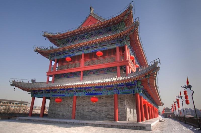 xian city wall wall china