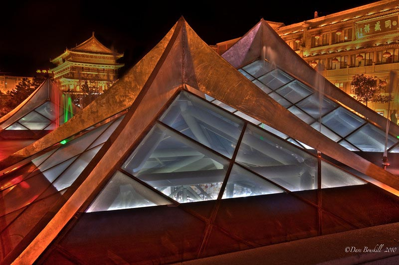 china photos at night xiian