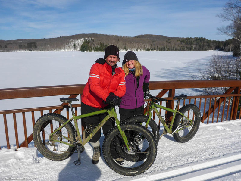 bikes snow travel