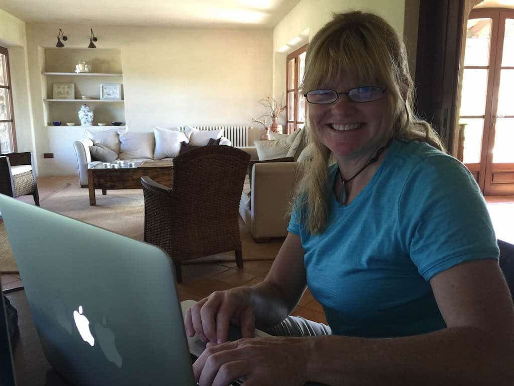 deb working at computer