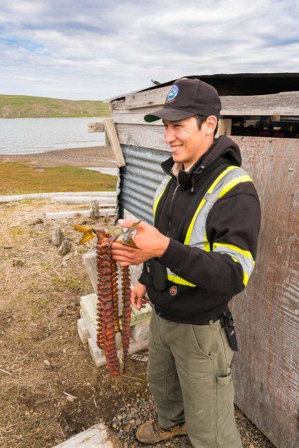 Parks Canada ranger at Hershel Island