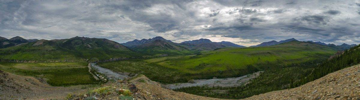 The Remote Mountains in Ivavvik National Park, Yukon, Canada
