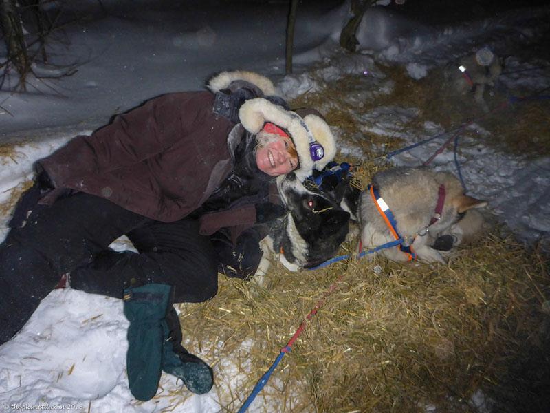 deb with dogs yukon