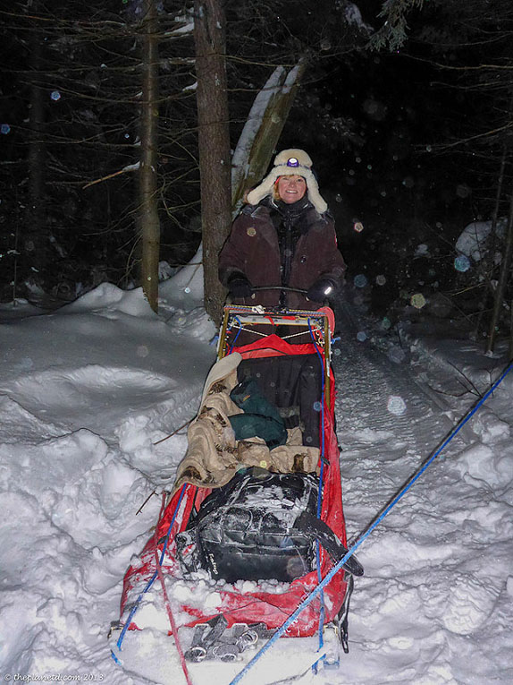 deb on sled yukon