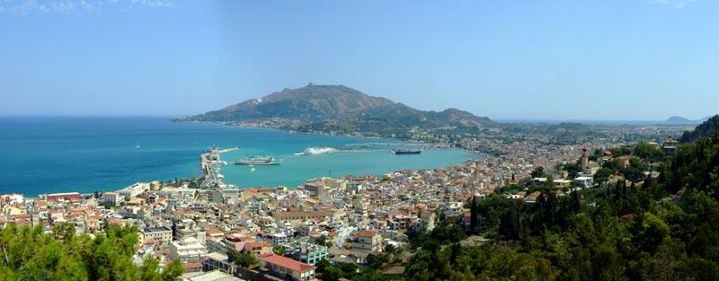 holidays in zante panorama view