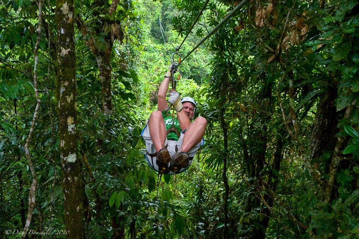 Dave goes ziplining in Fiji