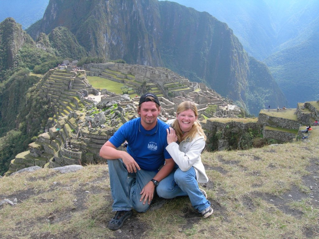 Dave and Deb at Machu Picchu, Peru