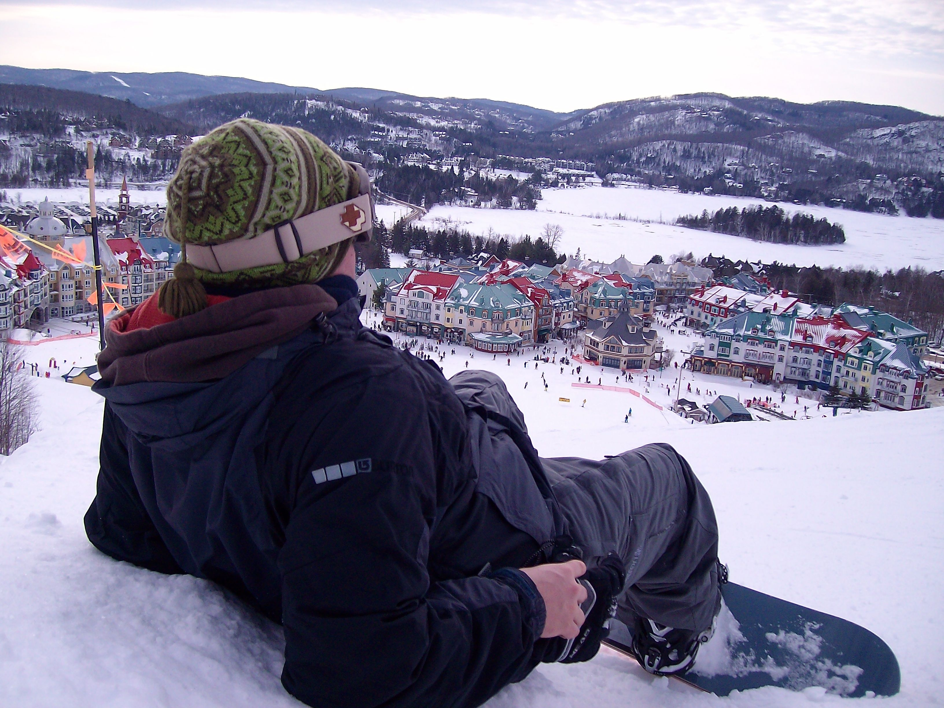 christmas vacation, snowboarding in Quebec