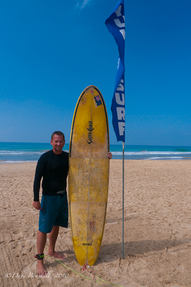 Dave learns to surf in Sri Lanka