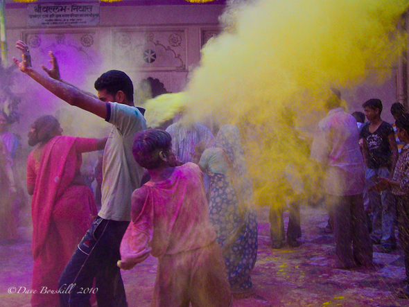 The colours fly at Holi festival