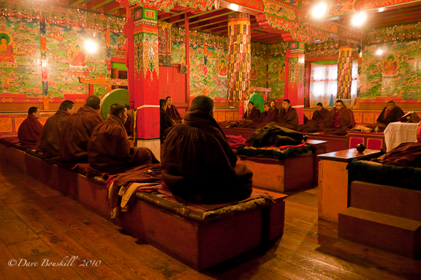 The monks chant at the Tengboche Monastary, Nepal.