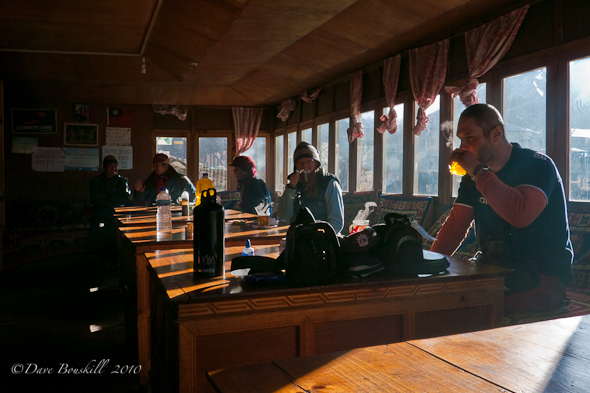 inside tea house dingboche mount everest region