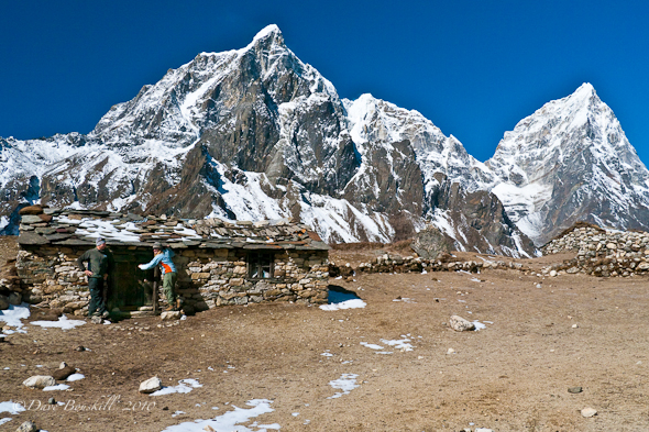 Mountain view on trek to Everest Base Camp