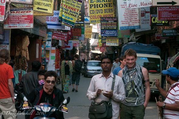 Backpacker hangout in Thamel, Kathmandu!