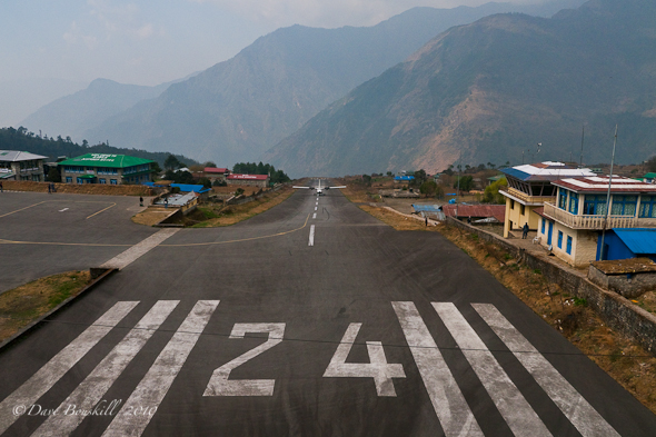Lukla's Airstrip at start of Everest Base Camp Trek