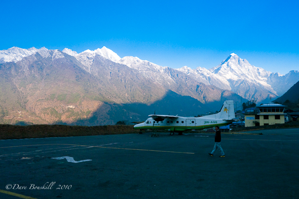 Tenzing hillary airport in Himalayas of Nepal