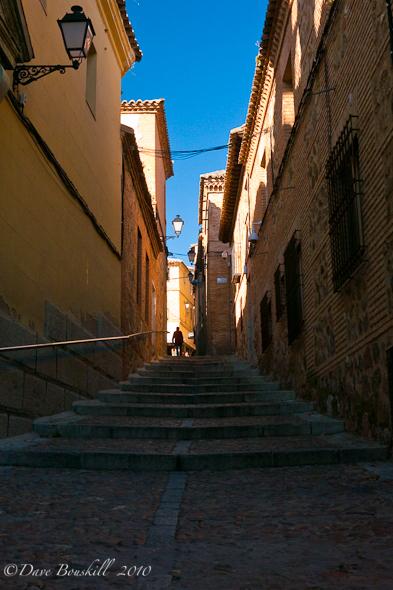 small alley in toledo spain