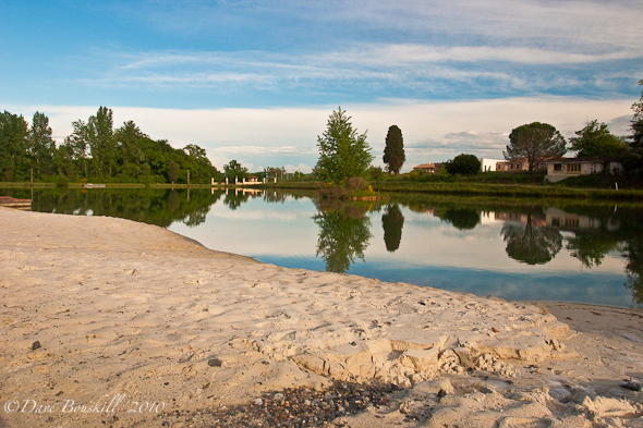 campsite in southern france with private lake