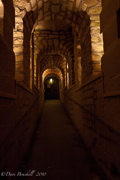 Catacombs paris hallway