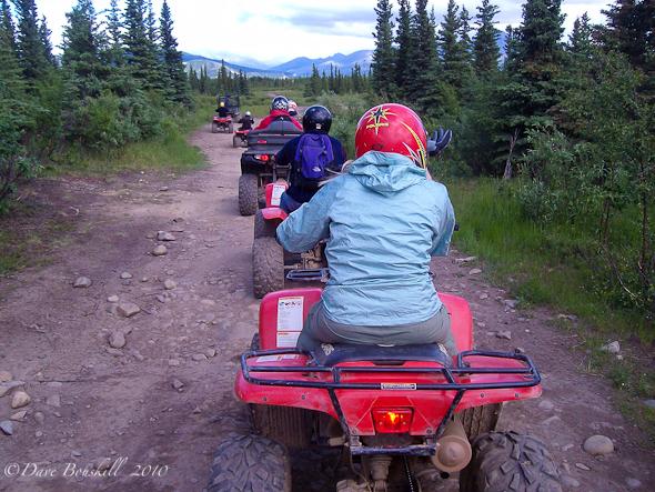 Group ATV Ride, Tri Valleys, Alaska