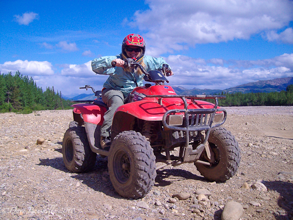 Debra Corbeil on her Black Diamond ATV