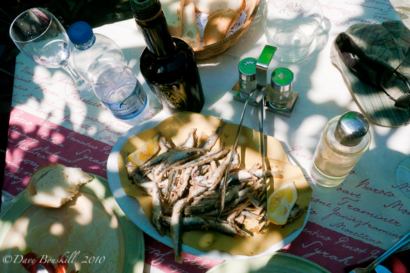 Deep fried anchovies in Italy with Olive Oil