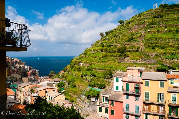 town overlooking Italian Riviera
