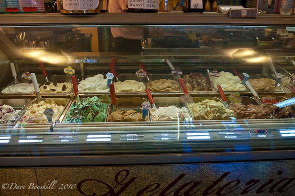 gelato on display in Cinque Terre Italy