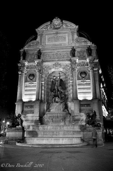 Fountain St Michel paris night photography
