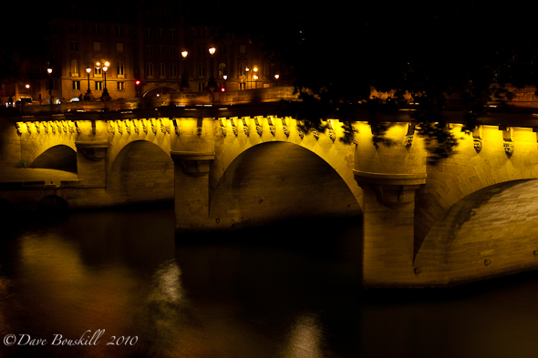 paris at night. Pont Neuf Bridge, Paris