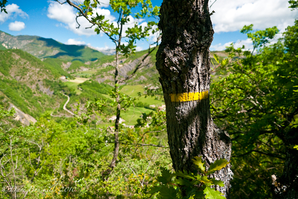 Via Ferrata-Haute Provence-Yellow-Blazes