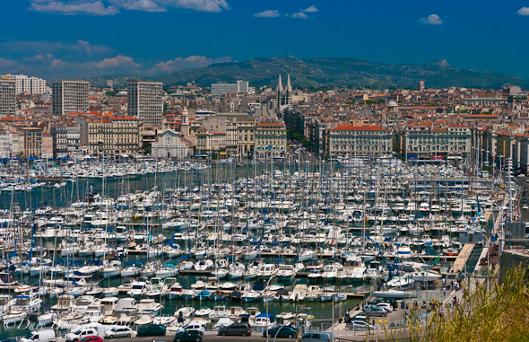 The port and city of Marseilles france