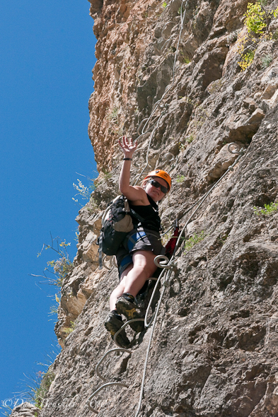 scaling rock of via ferrata