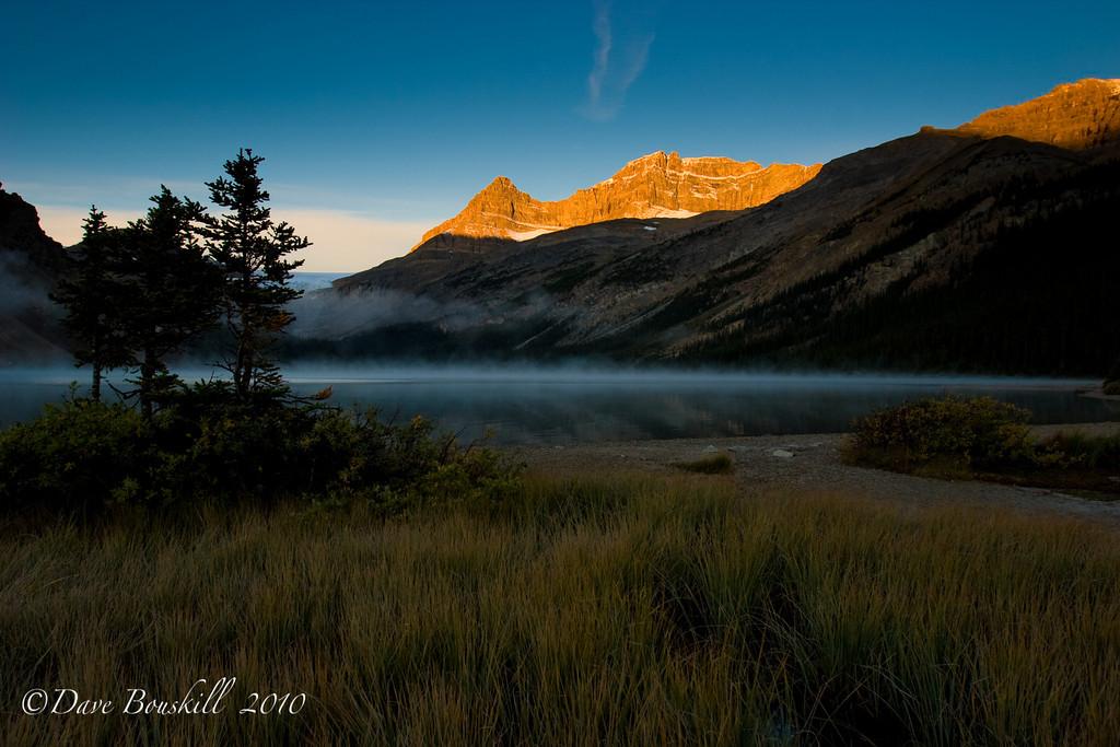 Morning at Bow Lake in Banff, Alberta, Canada