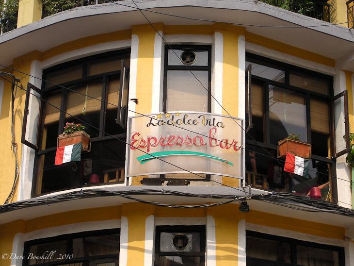 Espresso Bar in Kathmandu at an Italian Restaurant
