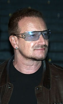 Philanthropist Bono is an activist and Humanitarian