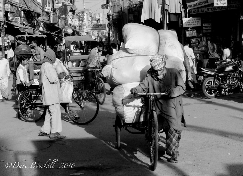 Black and White of Delhi, India