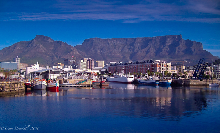 Table mountain the backdrop of Capetown, South Africa