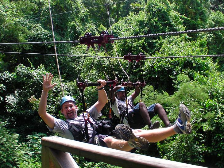 End of final zipline with Sky Safaris